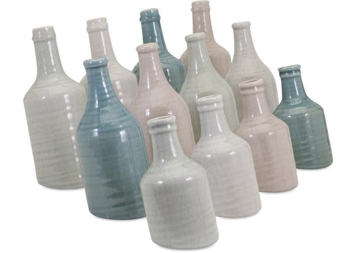 Sadler Mini Vases - Set of 12 - Free Shipping!, Vases, IMAX, - ReeceFurniture.com - Free Local Pick Ups: Frankenmuth, MI, Indianapolis, IN, Chicago Ridge, IL, and Detroit, MI