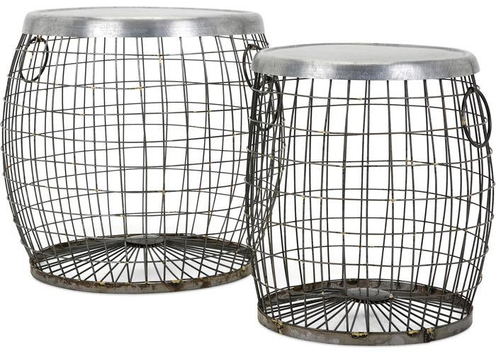 Balaz Wire Tables - Set of 2 - Free Shipping!, Consoles/Hall Tables/Dining Tables, IMAX, - ReeceFurniture.com - Free Local Pick Ups: Frankenmuth, MI, Indianapolis, IN, Chicago Ridge, IL, and Detroit, MI