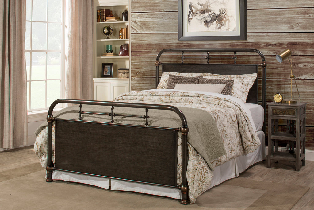 100411 Logan Bed Set - Queen - Bed Frame Not Included Hillsdale Bed - RauFurniture.com