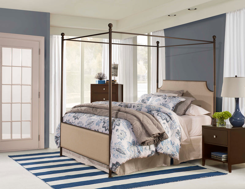 102341 Mcarthur Canopy Bed Set - Bronze Finish - King - Bed Frame Included Hillsdale Bed - RauFurniture.com