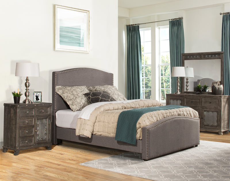 1995BKR Kerstein Bed Set - King - Rails Included - Orly Gray Fabric, Hillsdale Bed Set, Hillsdale Furniture, - ReeceFurniture.com - Free Local Pick Ups: Frankenmuth, MI, Indianapolis, IN, Chicago Ridge, IL, and Detroit, MI