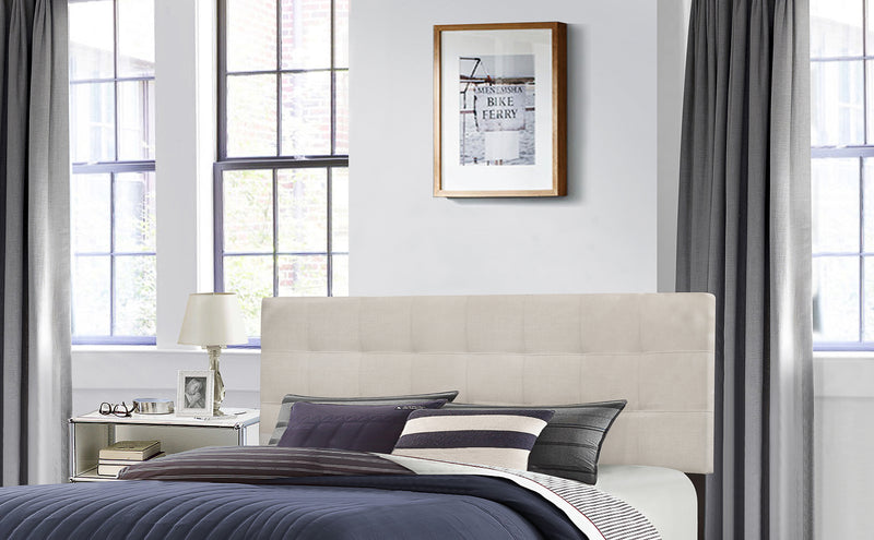 2009HFQRF Delaney Headboard - Full/Queen - Headboard Frame Included - Fog Fabric, Hillsdale Headboard, Hillsdale Furniture, - ReeceFurniture.com - Free Local Pick Ups: Frankenmuth, MI, Indianapolis, IN, Chicago Ridge, IL, and Detroit, MI