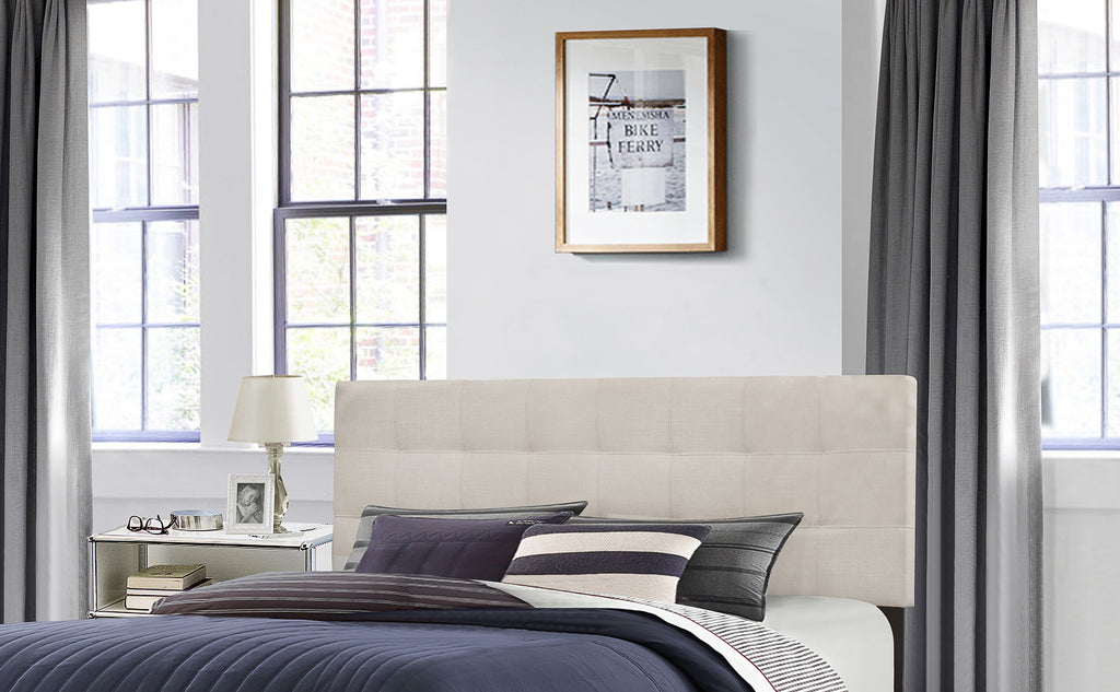 2009HKRF Delaney Headboard - King - Headboard Frame Included - Fog Fabric, Hillsdale Headboard, Hillsdale Furniture, - ReeceFurniture.com - Free Local Pick Ups: Frankenmuth, MI, Indianapolis, IN, Chicago Ridge, IL, and Detroit, MI