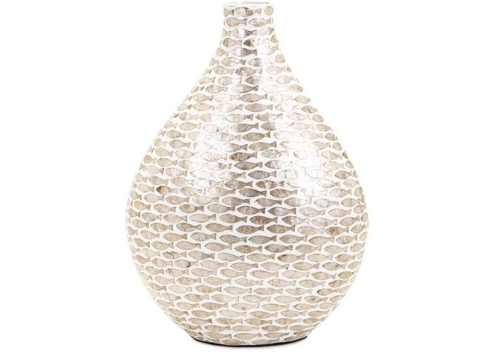 Pisces Small Shell Vase - Free Shipping!, Vases, IMAX, - ReeceFurniture.com - Free Local Pick Ups: Frankenmuth, MI, Indianapolis, IN, Chicago Ridge, IL, and Detroit, MI