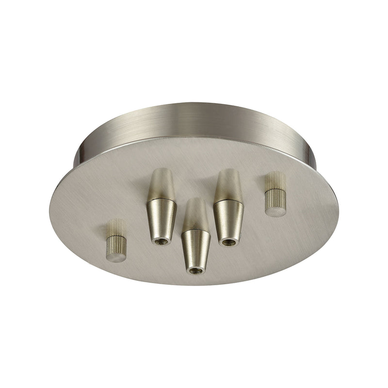 3SR-SN Illuminaire Accessories 3 Light Small Round Canopy In Satin Nickel, Parts/Hardware, ELK Lighting, - ReeceFurniture.com - Free Local Pick Ups: Frankenmuth, MI, Indianapolis, IN, Chicago Ridge, IL, and Detroit, MI