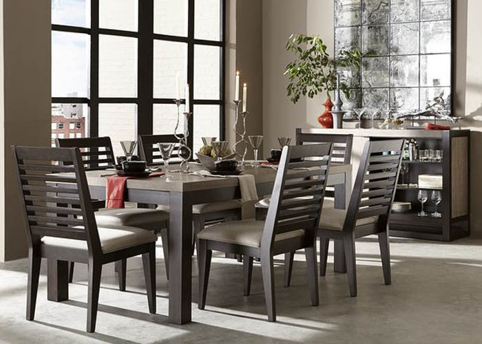 4660 Helix - 7 Piece Set - Leg Table & 6 Slat Back Chairs, Formal Dining Room, Legacy Classic Furniture, - ReeceFurniture.com - Free Local Pick Ups: Frankenmuth, MI, Indianapolis, IN, Chicago Ridge, IL, and Detroit, MI