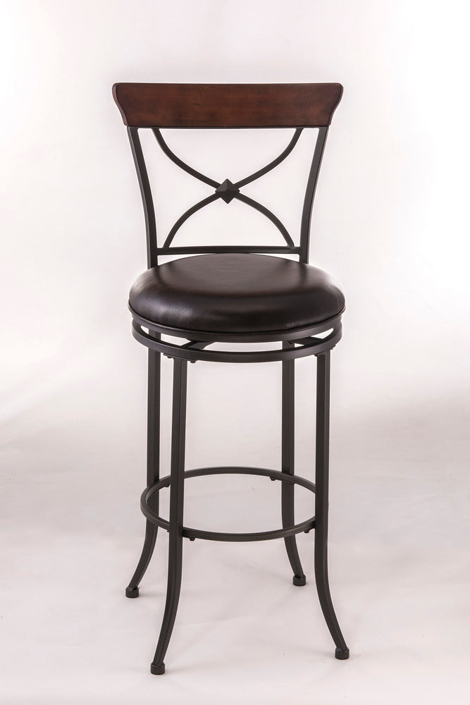 4671 Cameron Swivel X-Back Bar Stool - Free Shipping!, Hillsdale Bar Stool, Hillsdale Furniture, - ReeceFurniture.com - Free Local Pick Ups: Frankenmuth, MI, Indianapolis, IN, Chicago Ridge, IL, and Detroit, MI