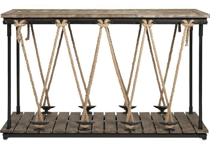 Astern Rope Console Table - Free Shipping!, Consoles/Hall Tables/Dining Tables, IMAX, - ReeceFurniture.com - Free Local Pick Ups: Frankenmuth, MI, Indianapolis, IN, Chicago Ridge, IL, and Detroit, MI