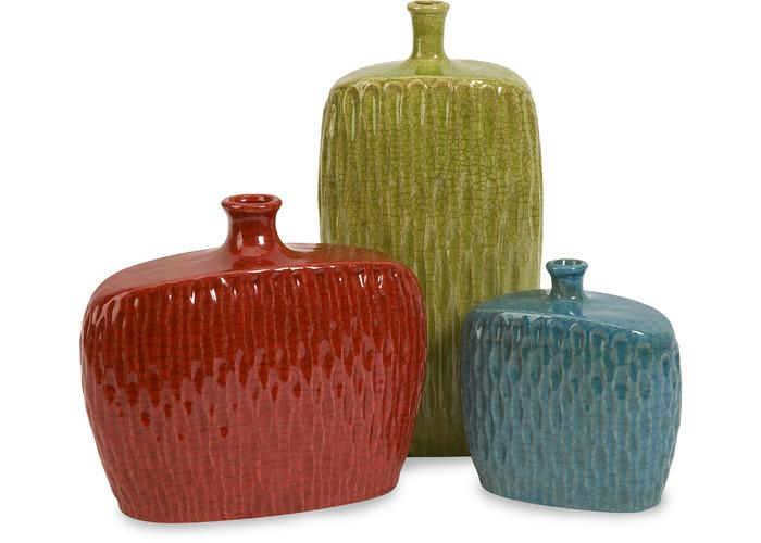 Herrera Vases - Set of 3 - Free Shipping!, Vases, IMAX, - ReeceFurniture.com - Free Local Pick Ups: Frankenmuth, MI, Indianapolis, IN, Chicago Ridge, IL, and Detroit, MI