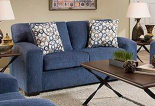 5253-PB Perth Blueberry Sofa, Stationary Upholstery, American, - ReeceFurniture.com - Free Local Pick Ups: Frankenmuth, MI, Indianapolis, IN, Chicago Ridge, IL, and Detroit, MI