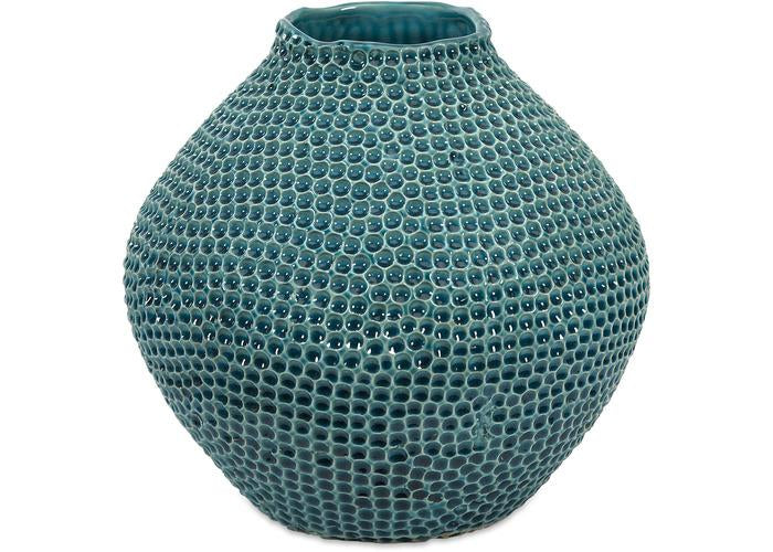 Isaac Short Crater Vase - Free Shipping!, Vases, IMAX, - ReeceFurniture.com - Free Local Pick Ups: Frankenmuth, MI, Indianapolis, IN, Chicago Ridge, IL, and Detroit, MI