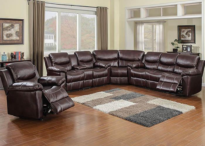66005 Chestnut 3 Piece Sectional, Motion Sectionals, American Imports, - ReeceFurniture.com - Free Local Pick Up: Frankenmuth, MI
