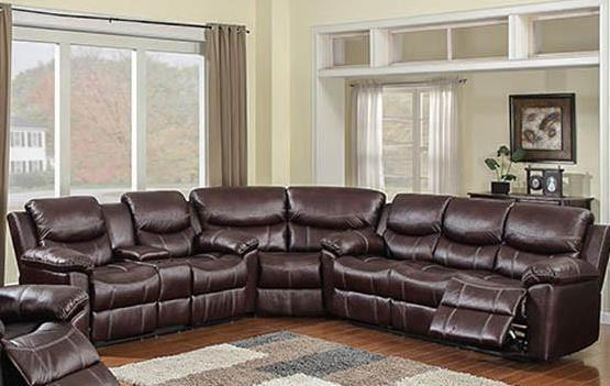 66005 Chestnut 3 Piece Sectional With POWER Sofa, Motion Sectionals, American Imports, - ReeceFurniture.com - Free Local Pick Up: Frankenmuth, MI
