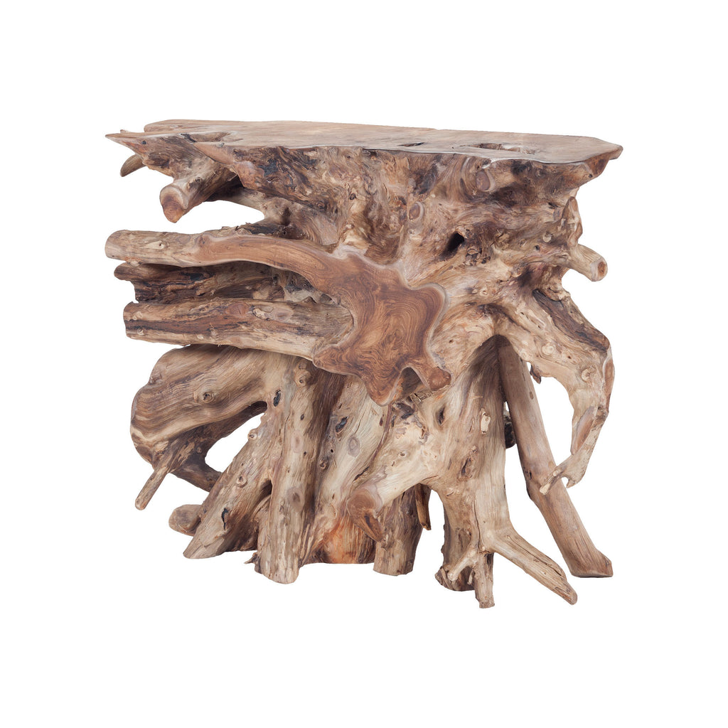 7011-006 Natural Teak Slice Console Console - RauFurniture.com