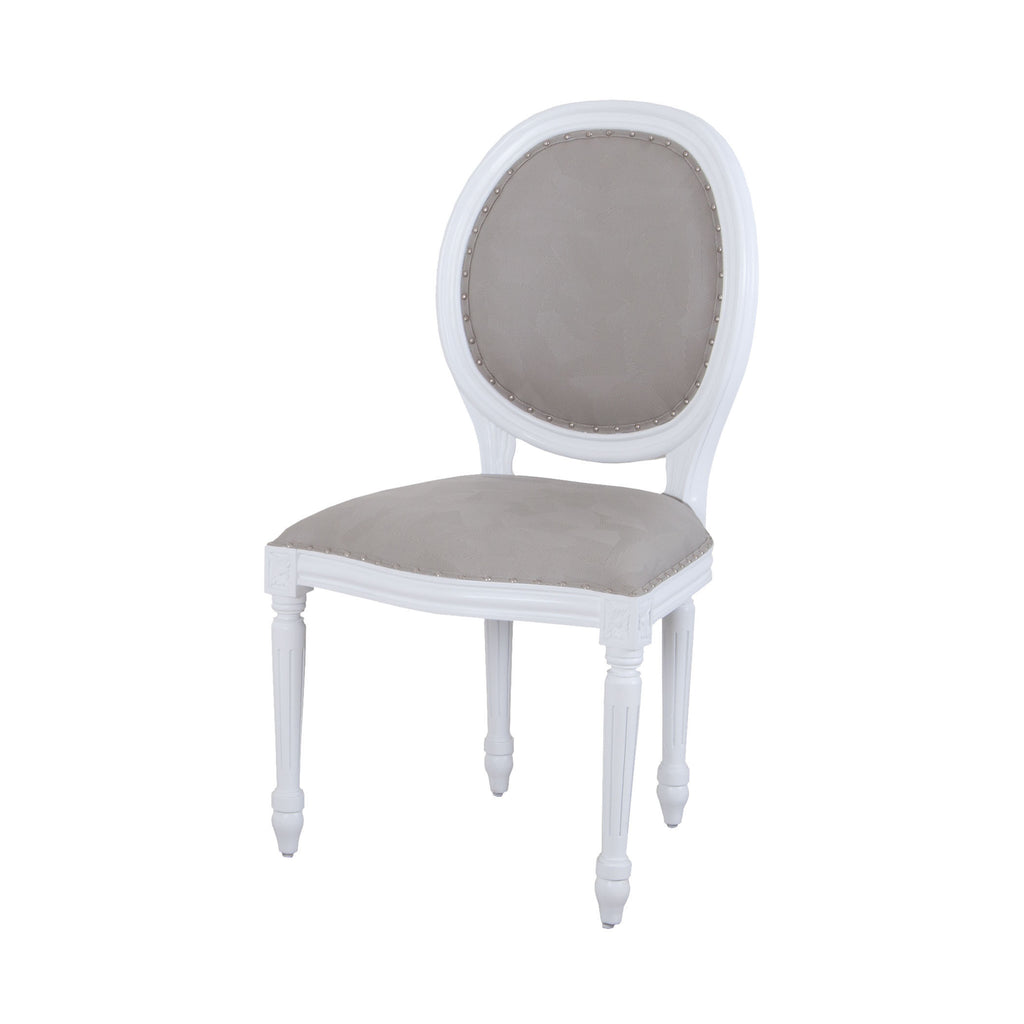 7011-1109 Viola Dining Chair In White And Grey Chair - RauFurniture.com