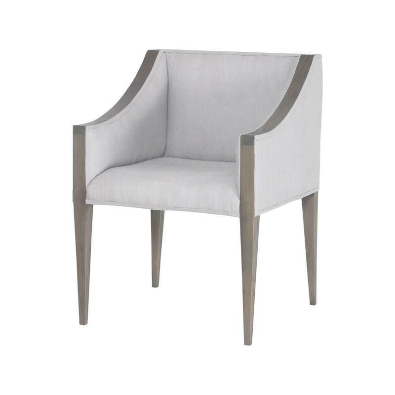 7011-195 Ashley Side Chair In Waterfront Grey Stain With Morning Mist Linen Upholestery Chair - RauFurniture.com