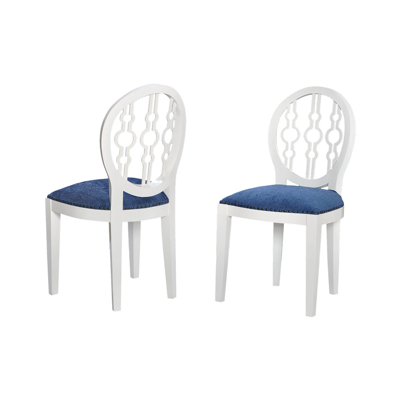 7011-625 Dimple Chair In Cappuccino Foam And Navy Fabric Chair - RauFurniture.com