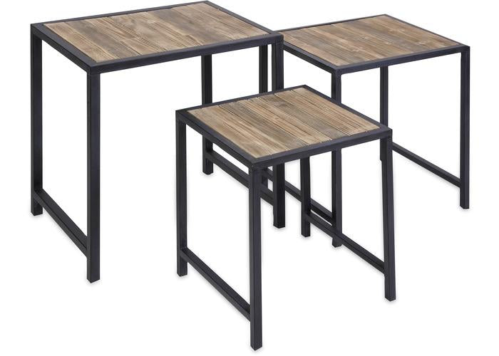 IK Groveport Nesting Tables - Set of 3 - Free Shipping!, Consoles/Hall Tables/Dining Tables, IMAX, - ReeceFurniture.com - Free Local Pick Ups: Frankenmuth, MI, Indianapolis, IN, Chicago Ridge, IL, and Detroit, MI