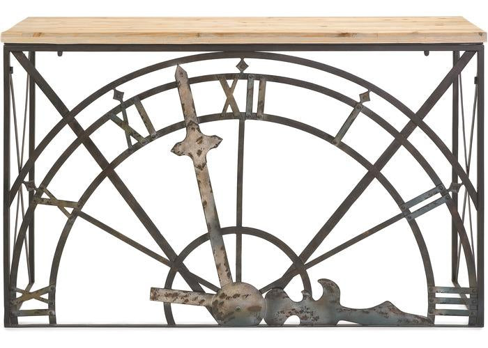 Half Clock Console - Free Shipping!, Consoles/Hall Tables/Dining Tables, IMAX, - ReeceFurniture.com - Free Local Pick Ups: Frankenmuth, MI, Indianapolis, IN, Chicago Ridge, IL, and Detroit, MI