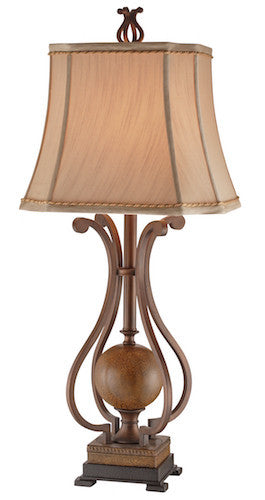 96902 - Copperfield Metal Table Lamp - Free Shipping! Floor, Desk And Table Lamps - RauFurniture.com