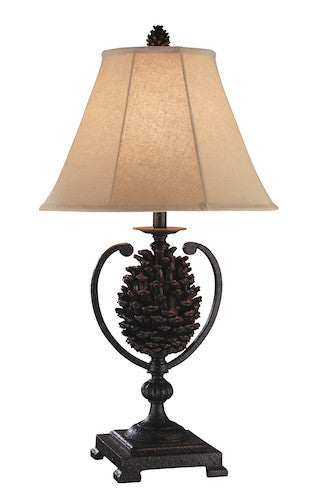 97867 - Big Sur Pine Cone Resin 2 pk Table Lamp Set - Free Shipping! Floor, Desk And Table Lamps - RauFurniture.com