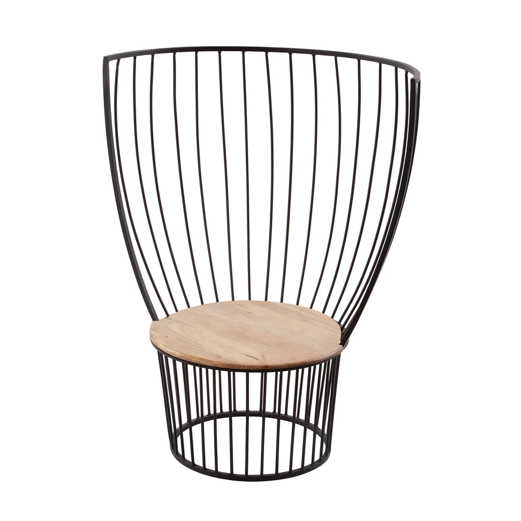 985-044 Teak And Metal Carousel Chair Chair - RauFurniture.com