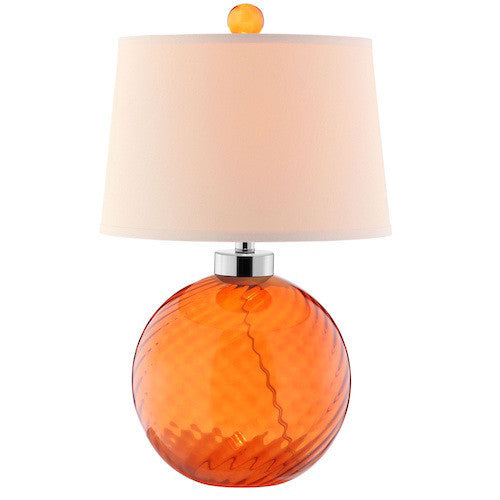 99589 - Sarano Tangerine Glass Table Lamp - Free Shipping! Floor, Desk And Table Lamps - RauFurniture.com