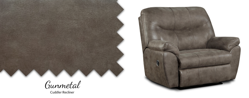 1509 Gunmetal Cuddler Recliner