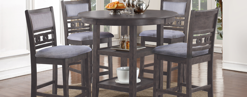 D1701 Gia Gray Pub Dining Set