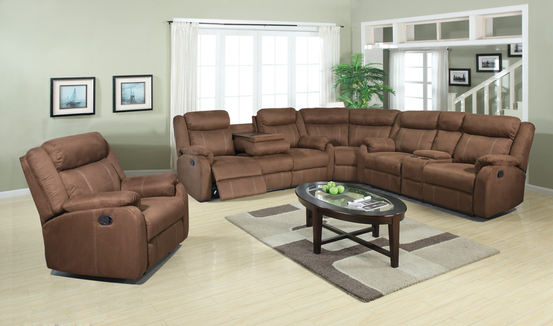L9303 Chocolate 3 Piece Sectional