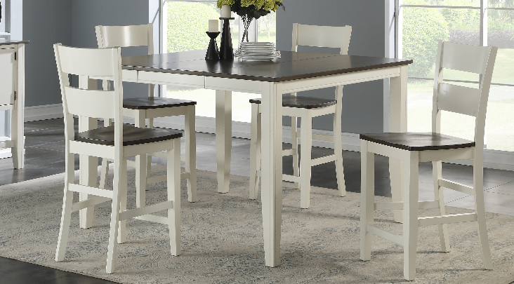 8205 Grey & White Pub Dining Room Set