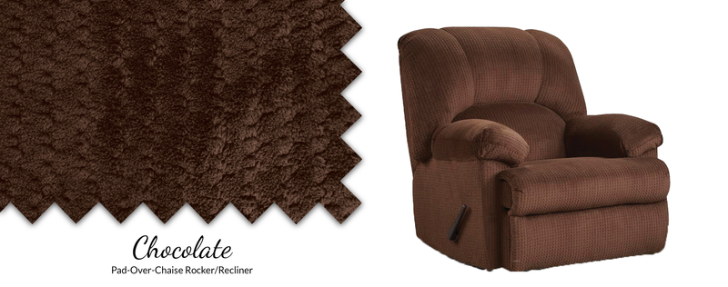 8500 Feel Good Pad-Over-Chaise Rocker/Recliner