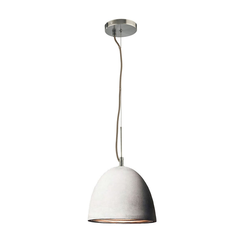PS4701-140-15-LA Castle 1 Light Pendant In Poured Concrete With Chrome Reflector - Small - Includes Recessed Lighting Kit - Free Shipping! Pendant - RauFurniture.com