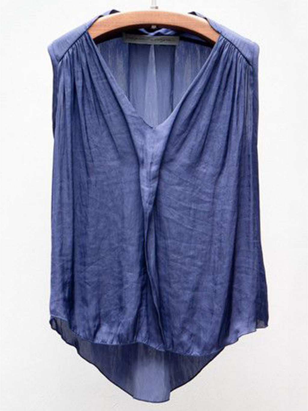 Casual V Neck Cotton-Blend Vest