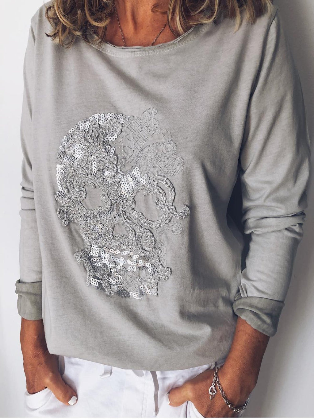 Printed Long Sleeve Casual T-Shirts