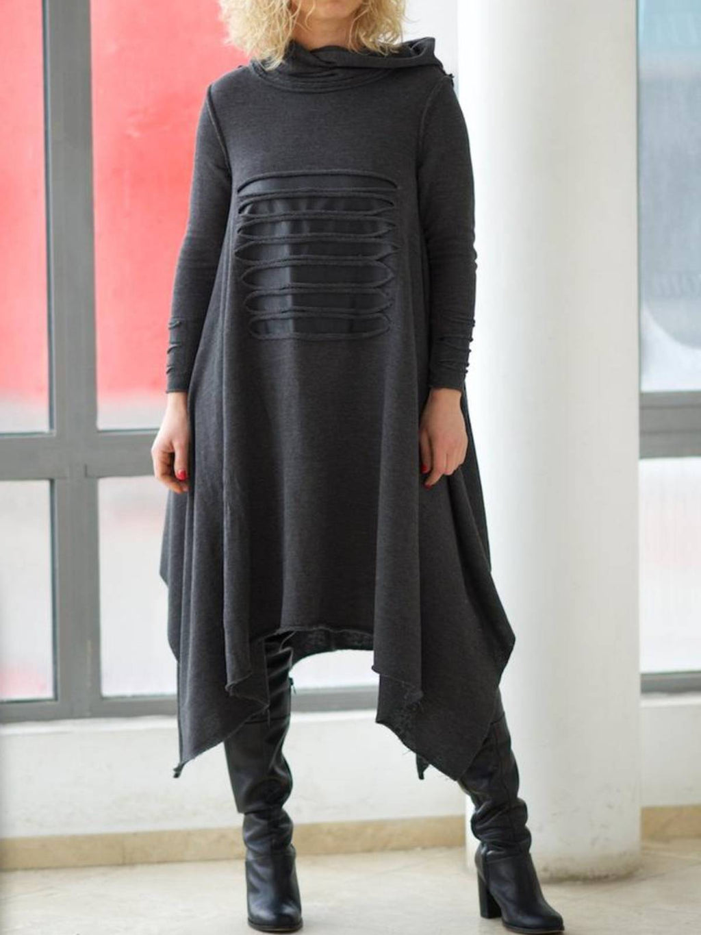 Fashion Plus Size Long Sleeve Hoodie Fall Dresses