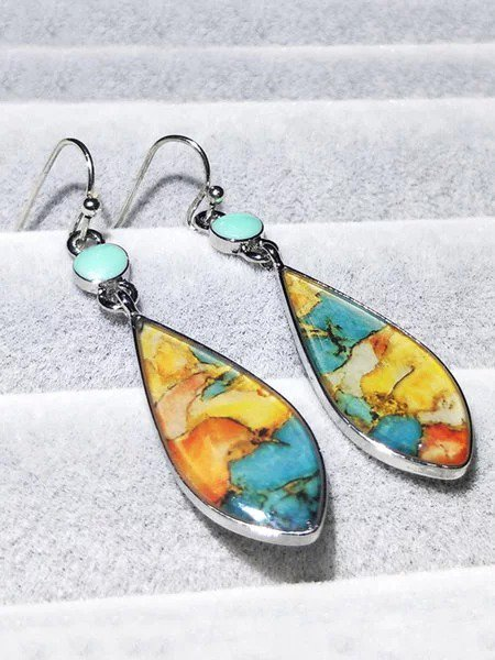 Vintage Colorful Glass Earrings