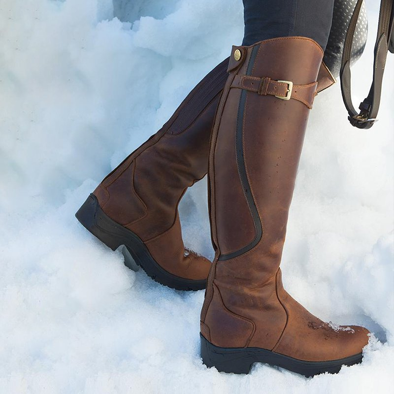 Buckle Winter Artificial Leather Boots