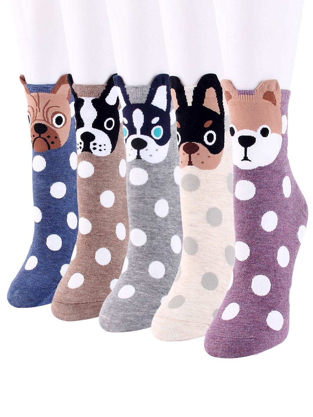 Cozy Cute Puppy Dot Socks