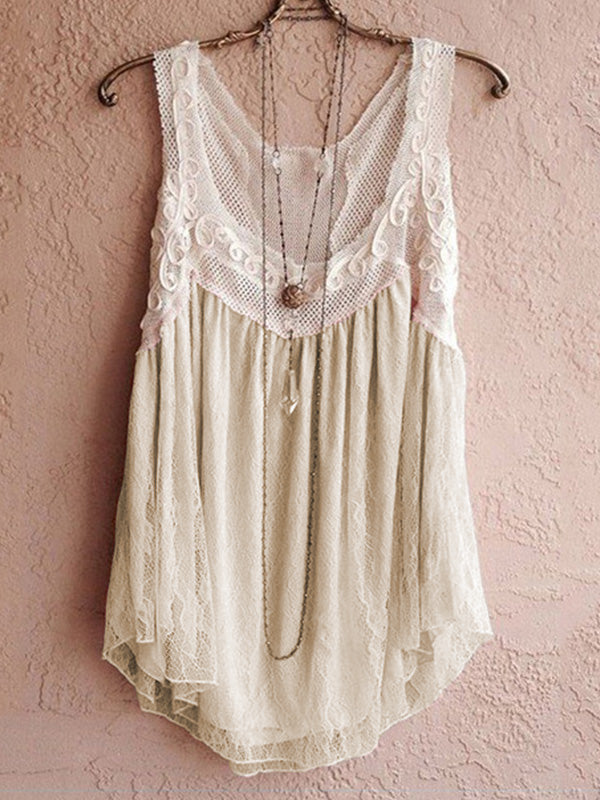 Chiffon Sleeveless Casual V Neck Vest