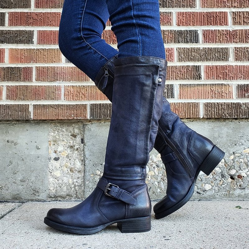Casual Low Heel Pu Boots