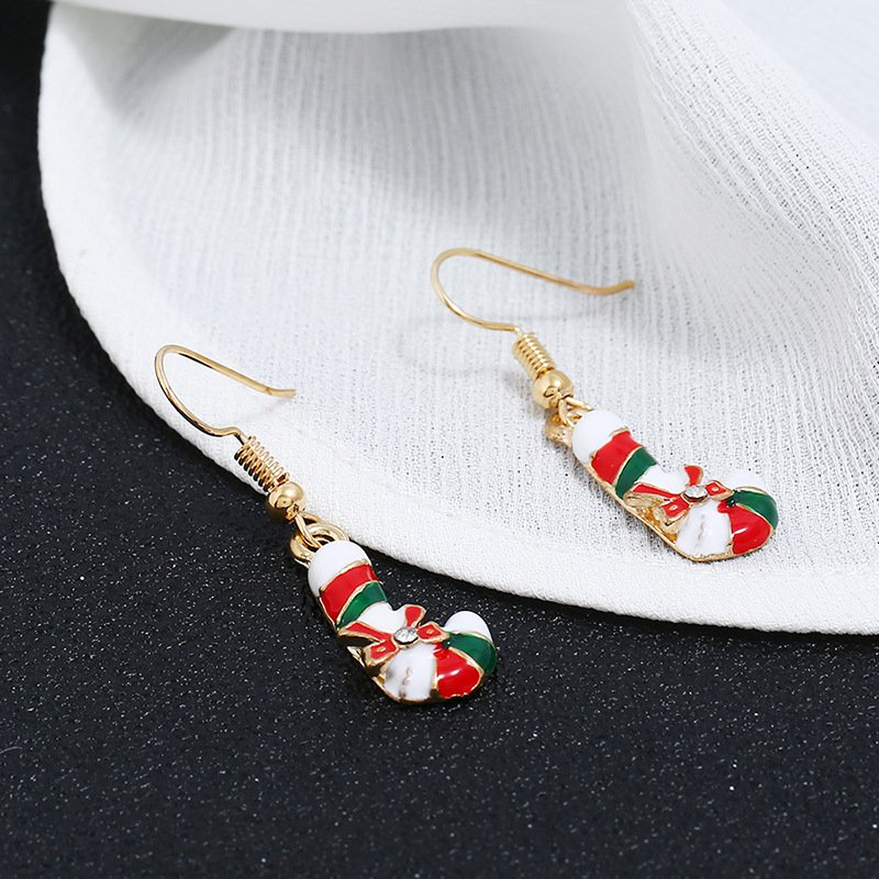 Alloy Dangle Chrismas Earrings