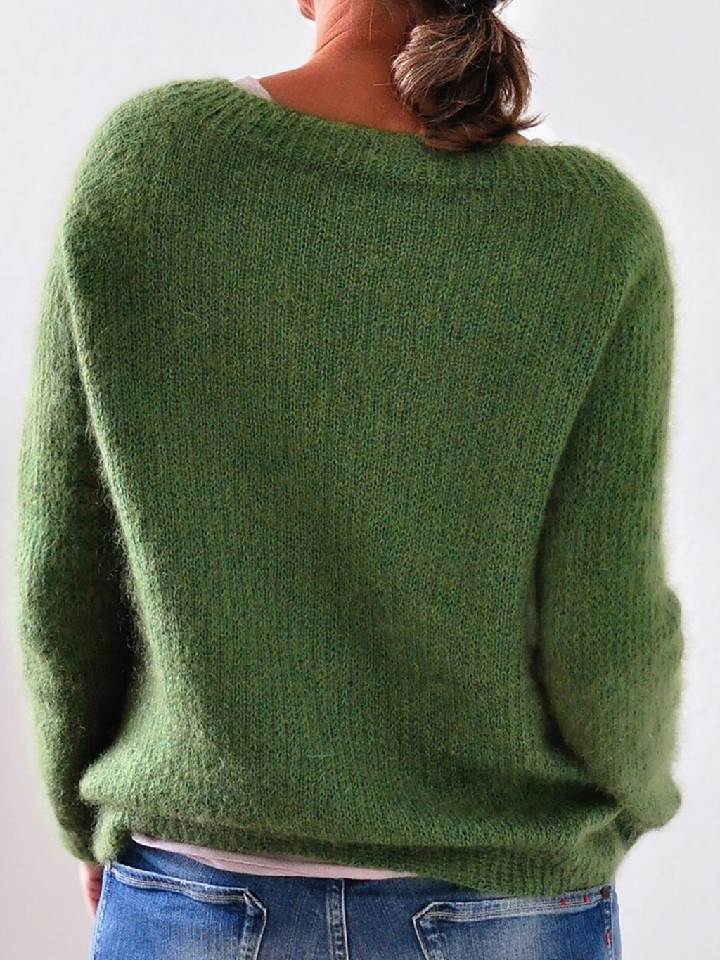 Fashion Knitted Sweaters Plus Size  Solid Color Pullovers Jumpers