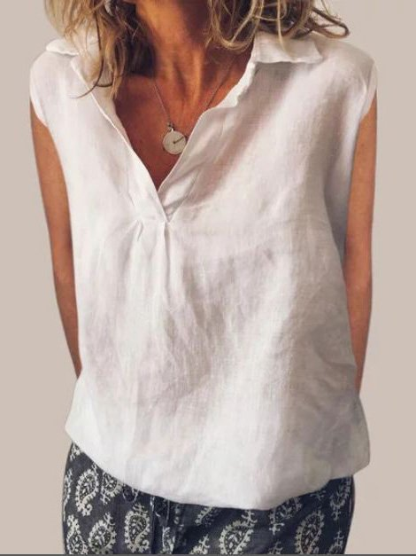 V Neck Casual Sleeveless Vest