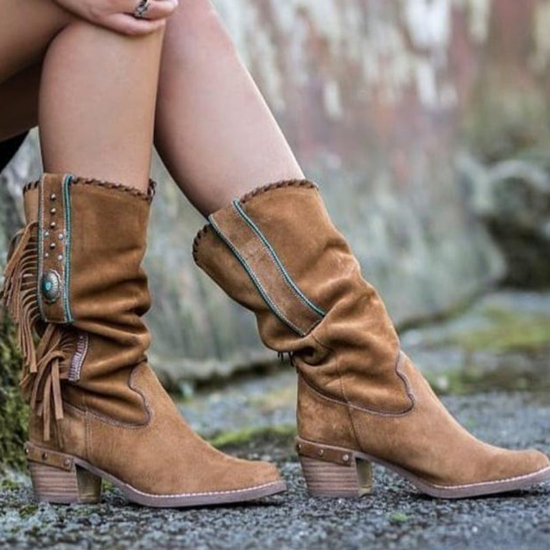 Fall Daily Faux Suede Boots