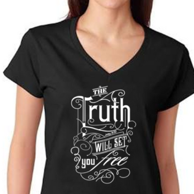 Bible Phrase Shirt - John 8:32