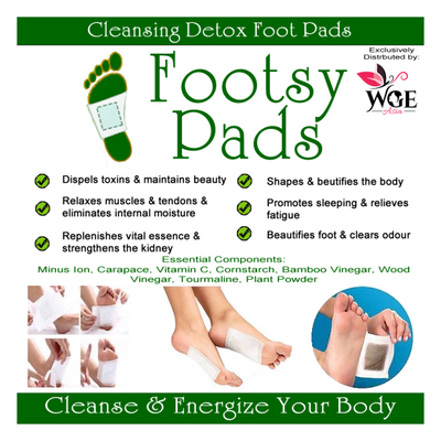 Detox Pads By Footsy Cleanse detoxing toxins patches