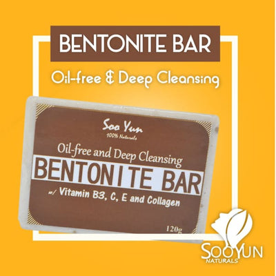 Oil-free and Deep Cleansing Bentonite Bar by Soo Yun