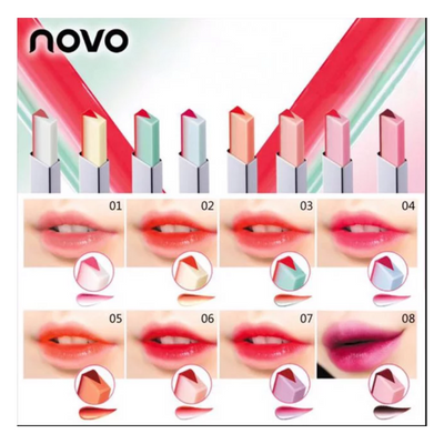 Double Color Lip Bar By Novo lipstick lips lip bars