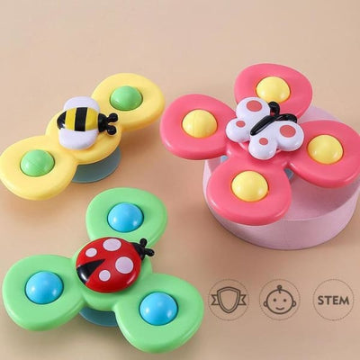Cute Cartoon Suction Cup Spinner Toy